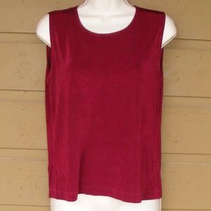 CHICO'S Travelers Tank, 1/M, Modest cut, Burgundy